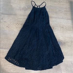 Abercrombie and Fitch halter top dress navy blue